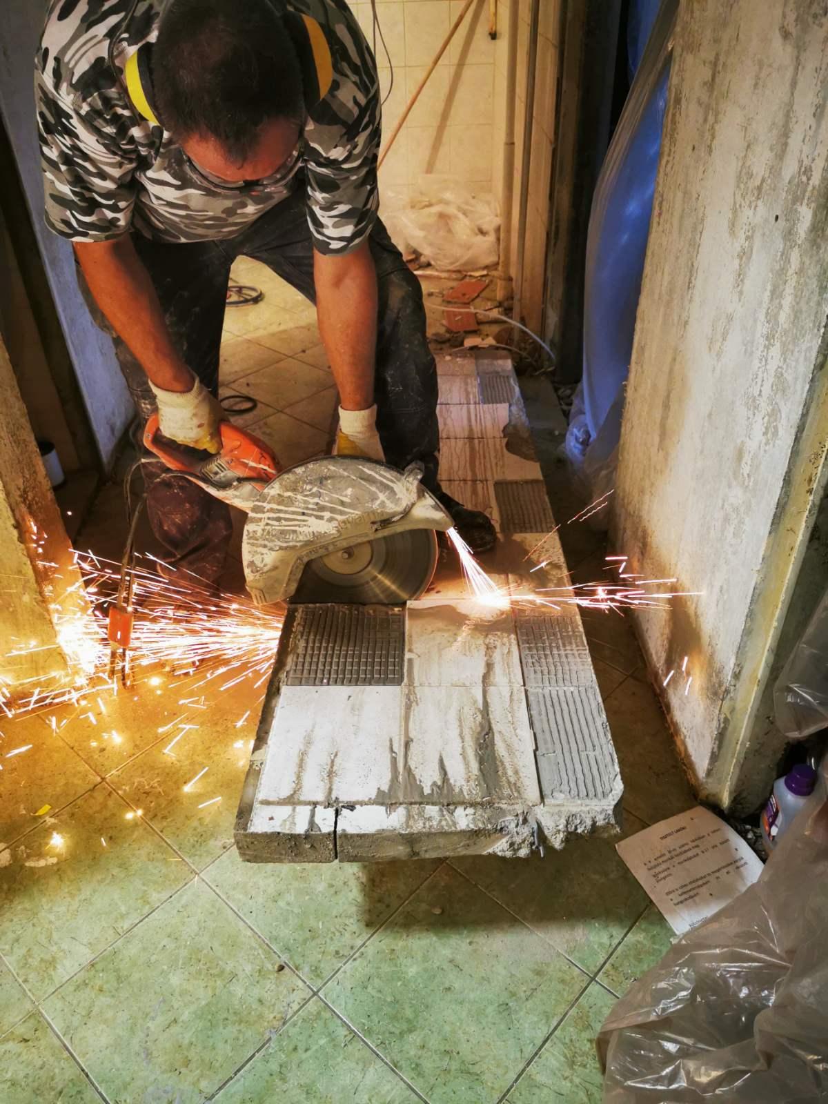 gépi betonvágás